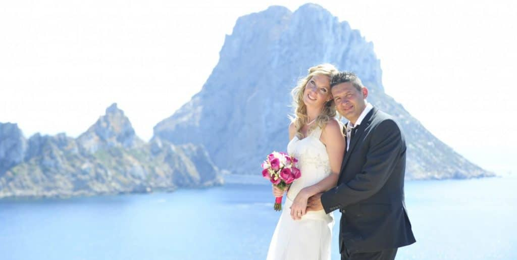 Es Vedra Ibiza wedding photo