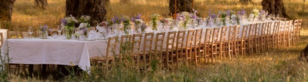 ibiza rural wedding reception