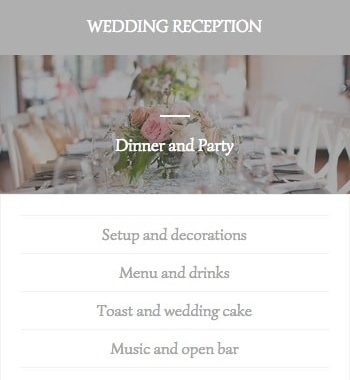 Ibiza wedding reception services list