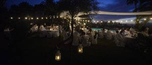 Ibiza wedding dinner in villa